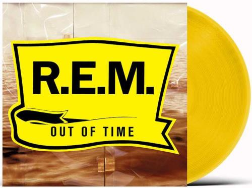 REM Out Of Time - Yellow Vinyl - Sealed vinyl LP album (LP record) UK REMLPOU755591
