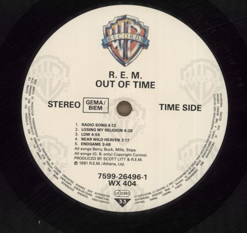 REM Out Of Time vinyl LP album (LP record) German REMLPOU636609