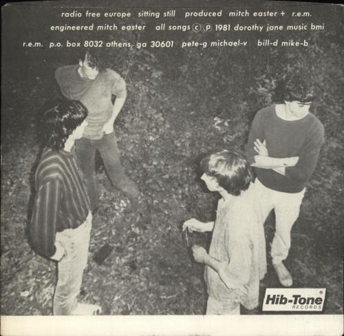 "REM Radio Free Europe - 2nd 7"" vinyl single (7 inch record) US REM07RA04008"