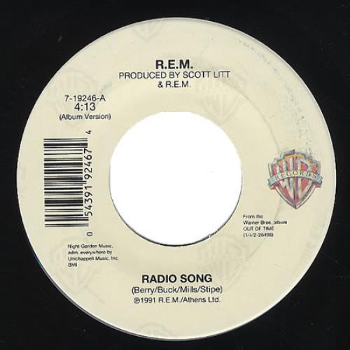 "REM Radio Song 7"" vinyl single (7 inch record) US REM07RA201292"