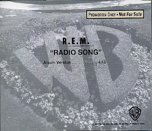 "REM Radio Song CD single (CD5 / 5"") US REMC5RA24325"