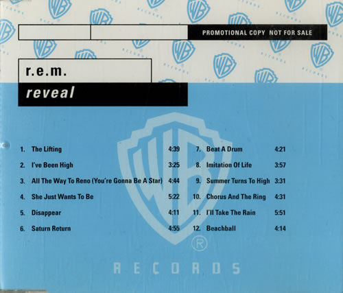 REM Reveal CD album (CDLP) German REMCDRE184740