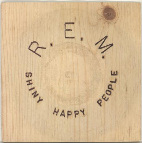"REM Shiny Happy People + Sleeve 7"" vinyl single (7 inch record) UK REM07SH68965"