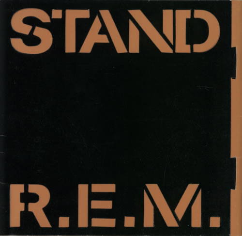 "REM Stand - Stencil Sleeve 7"" vinyl single (7 inch record) UK REM07ST16983"