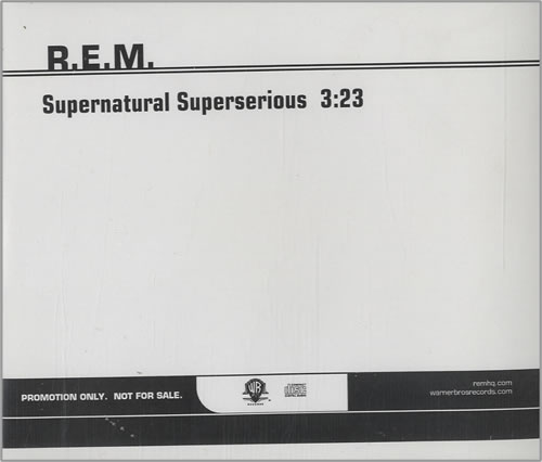 "REM Supernatural Superserious CD single (CD5 / 5"") US REMC5SU450038"