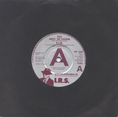 "REM Talk About The Passion 7"" vinyl single (7 inch record) UK REM07TA32801"