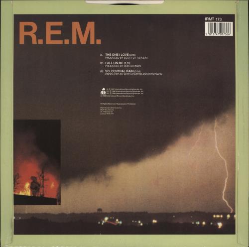 "REM The One I Love - EX 12"" vinyl single (12 inch record / Maxi-single) UK REM12TH767686"