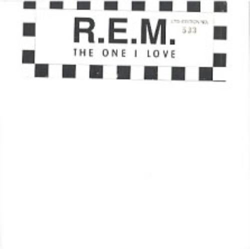 "REM The One I Love - Sealed 7"" vinyl single (7 inch record) UK REM07TH02508"