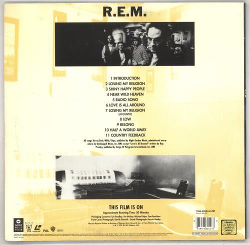 REM This Film Is On laserdisc / lazerdisc German REMLZTH02391