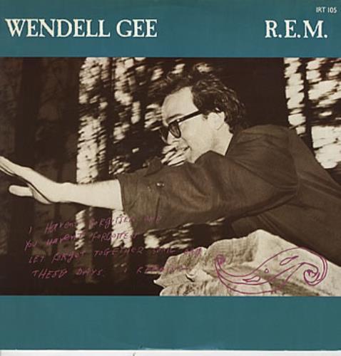 "REM Wendell Gee 12"" vinyl single (12 inch record / Maxi-single) UK REM12WE07784"