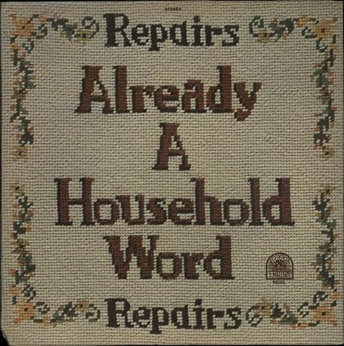Repairs Already A Household Word vinyl LP album (LP record) US R1VLPAL567552