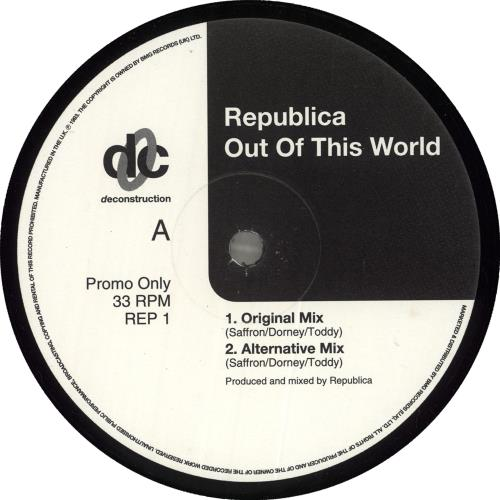 """Republica Out Of This World (Remixes #1) 12"""" vinyl single (12 inch record / Maxi-single) UK UBL12OU719331"""