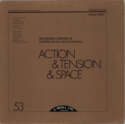 Rex Brown Company Action & Tension & Space vinyl LP album (LP record) German RZXLPAC612814
