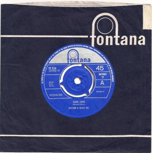 "Rhythm And Blues Inc Louie, Louie - Tri-Centre 7"" vinyl single (7 inch record) UK XNY07LO640816"