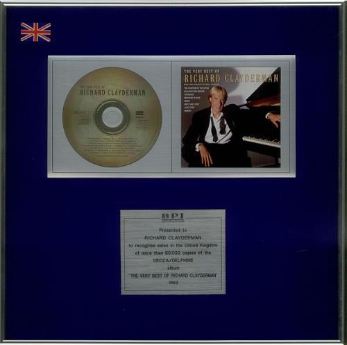 Richard Clayderman The Very Best Of Richard Clayderman award disc UK RC1AWTH533030
