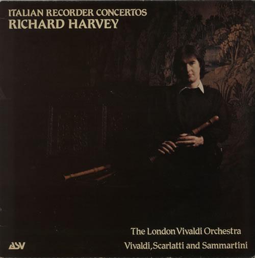 Richard Harvey Italian Recorder Concertos vinyl LP album (LP record) UK RI-LPIT642800
