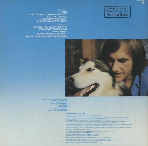 Richard Kerr No Looking Back vinyl LP album (LP record) UK RK-LPNO732959