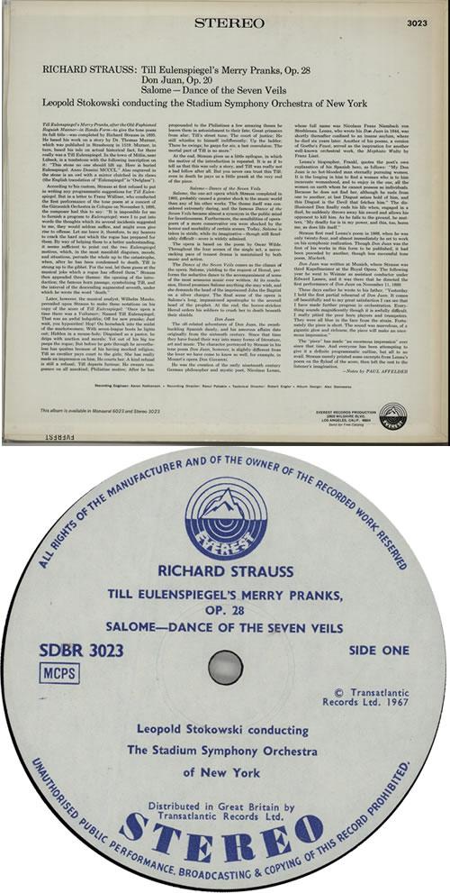 Richard Strauss Till Eulenspiegel's Merry Pranks / Don Juan / Salome: Dance Of The Seven Veils vinyl LP album (LP record) UK RG6LPTI632318