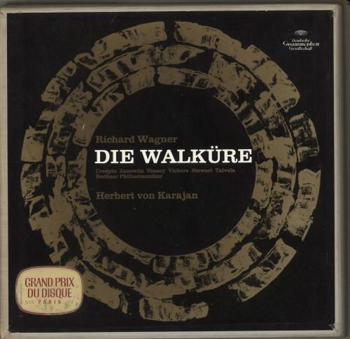 Richard Wagner Die Walkure 5-LP vinyl album record set German WGX5LDI711804