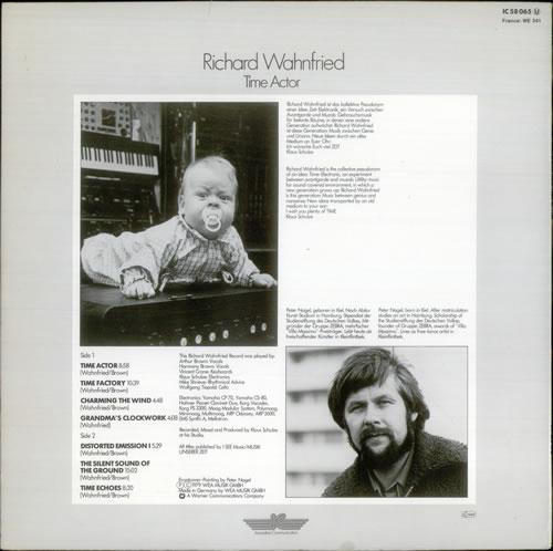 Richard Wahnfried Time Actor vinyl LP album (LP record) German R2LLPTI539841