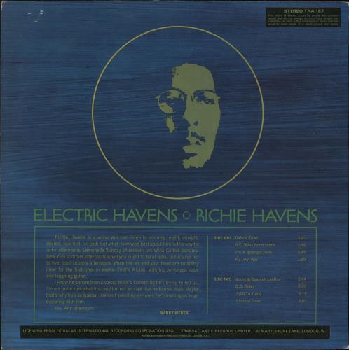 Richie Havens Electric Havens vinyl LP album (LP record) UK CHVLPEL728713