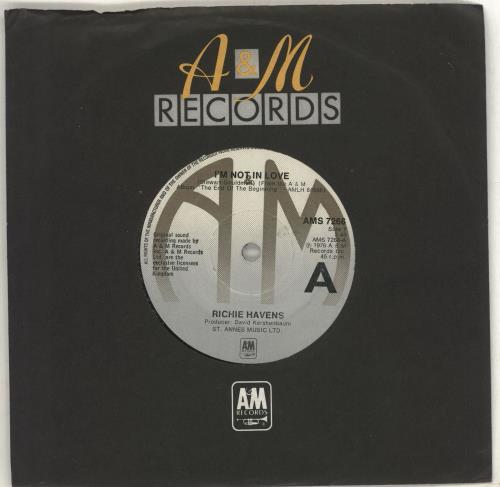 "Richie Havens I'm Not In Love 7"" vinyl single (7 inch record) UK CHV07IM712736"