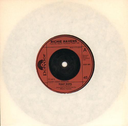 "Richie Havens Tight Rope 7"" vinyl single (7 inch record) UK CHV07TI643120"