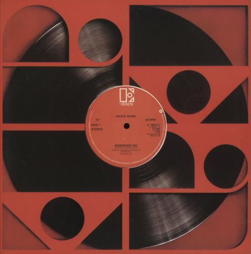"""Richie Rome Remember Me 12"""" vinyl single (12 inch record / Maxi-single) UK 1K812RE745764"""