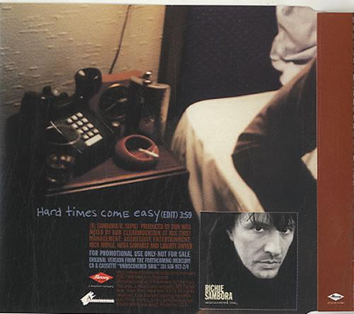 "Richie Sambora Hard Times Come Easy CD single (CD5 / 5"") US RSBC5HA107038"