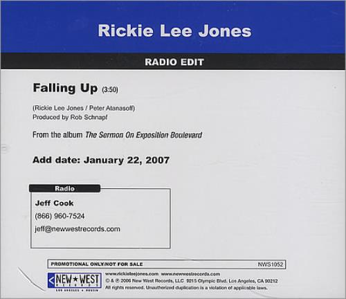 "Rickie Lee Jones Falling Up CD single (CD5 / 5"") US RLJC5FA391674"