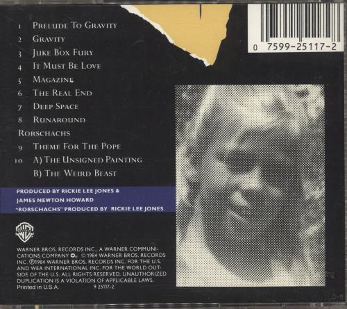Rickie Lee Jones The Magazine CD album (CDLP) Japanese RLJCDTH718729