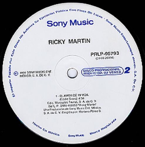 """Ricky Martin El Amor De Mi Vida 12"""" vinyl single (12 inch record / Maxi-single) Mexican RKM12EL233280"""