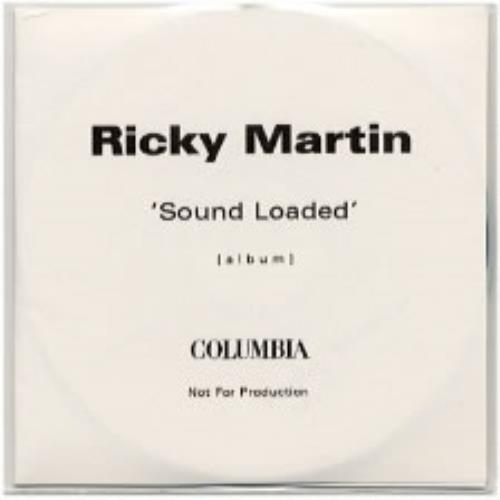 Ricky Martin Sound Loaded CD-R acetate UK RKMCRSO168644
