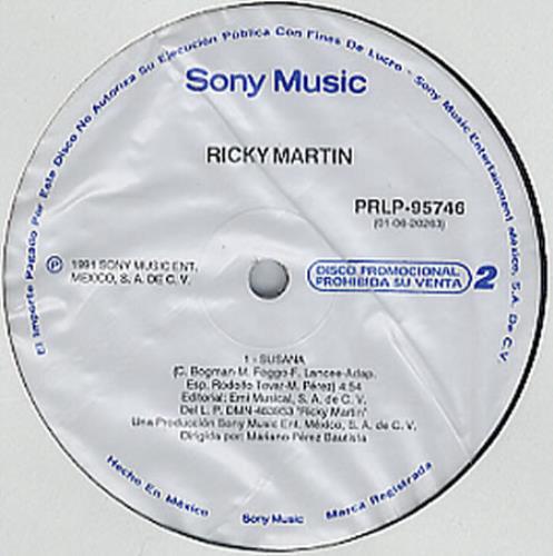 "Ricky Martin Susana 12"" vinyl single (12 inch record / Maxi-single) Mexican RKM12SU233278"