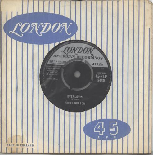 """Ricky Nelson Everlovin' 7"""" vinyl single (7 inch record) UK R-N07EV557273"""