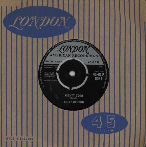 "Ricky Nelson Mighty Good 7"" vinyl single (7 inch record) UK R-N07MI571637"