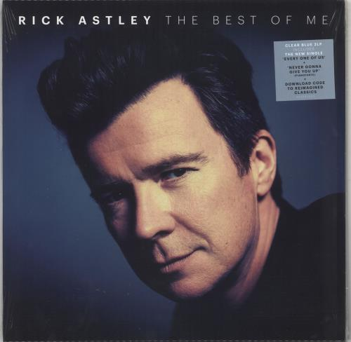 Rick Astley The Best Of Me - 180gm Blue Vinyl - Sealed 2-LP vinyl record set (Double Album) UK AST2LTH733817