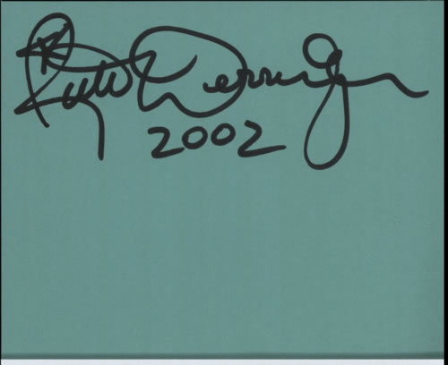 Rick Derringer Page From An Autograph Book memorabilia UK RDRMMPA602298