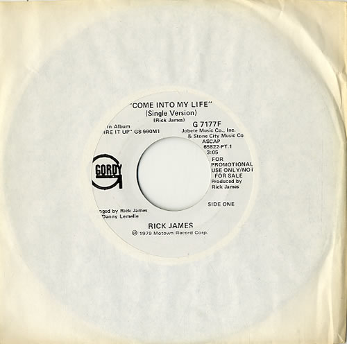 "Rick James Come Into My Life 7"" vinyl single (7 inch record) US R-J07CO591867"