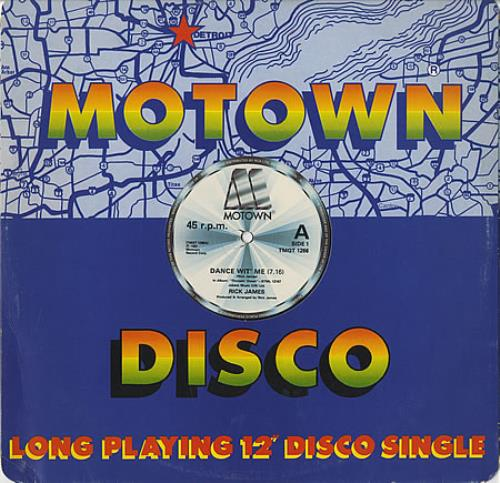 "Rick James Dance Wit' Me 12"" vinyl single (12 inch record / Maxi-single) UK R-J12DA402664"