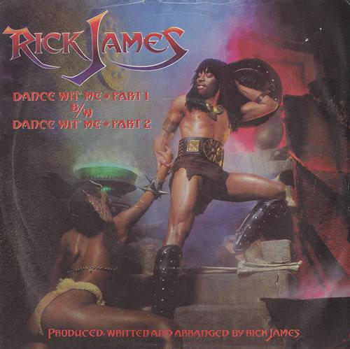 """Rick James Dance Wit' Me 7"""" vinyl single (7 inch record) UK R-J07DA459723"""