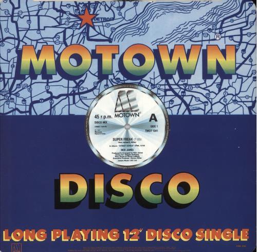"Rick James Super Freak 12"" vinyl single (12 inch record / Maxi-single) UK R-J12SU745322"