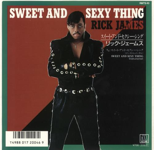 """Rick James Sweet And Sexy Thing - White label + Insert 7"""" vinyl single (7 inch record) Japanese R-J07SW740027"""