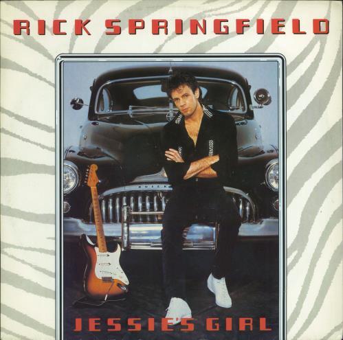 """Rick Springfield Jessie's Girl 12"""" vinyl single (12 inch record / Maxi-single) UK RSP12JE770070"""