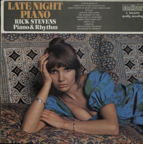 Rick Stevens Late Night Piano vinyl LP album (LP record) UK R98LPLA608106