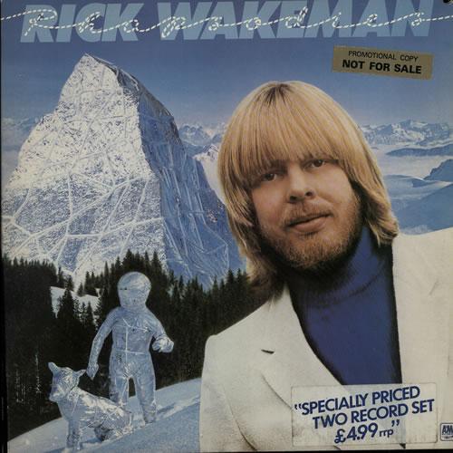 Rick Wakeman Rhapsodies - Promo Stickered 2-LP vinyl record set (Double Album) UK RKW2LRH636420