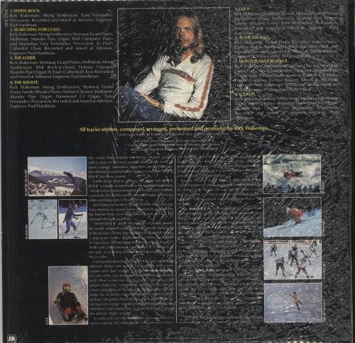 Rick Wakeman White Rock - shrink vinyl LP album (LP record) UK RKWLPWH725506