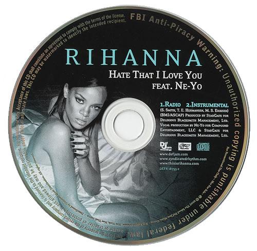 "Rihanna Hate That I Love You CD single (CD5 / 5"") US RH1C5HA436949"