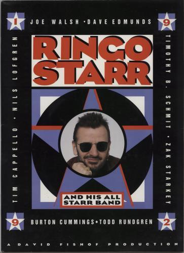 Ringo Starr 1992 Tour Programme tour programme UK RINTRTO756757