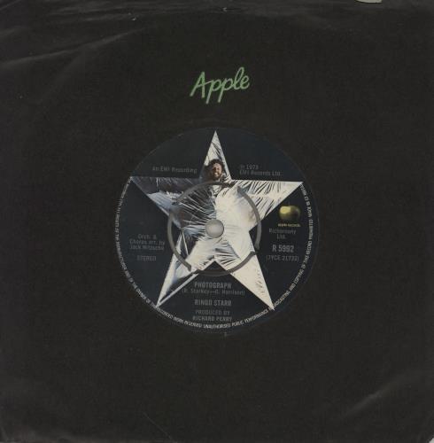 "Ringo Starr Photograph 7"" vinyl single (7 inch record) UK RIN07PH520467"